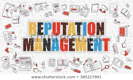 Reputation Management in Multicolor. Doodle Design. Stock photo © tashatuvango