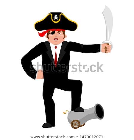 Zakenman piraat manager business geld Stockfoto © popaukropa