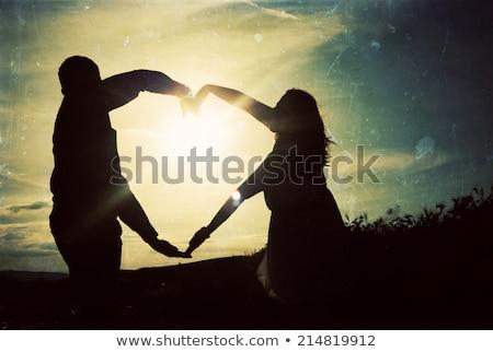 strand · kus · liefde · hart · naar · paar - stockfoto © robuart