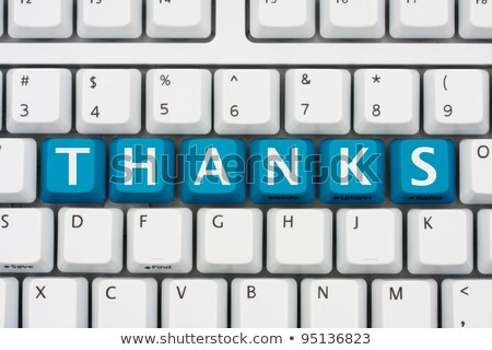 Keyboard with Blue Key - Thank You. Stock photo © tashatuvango