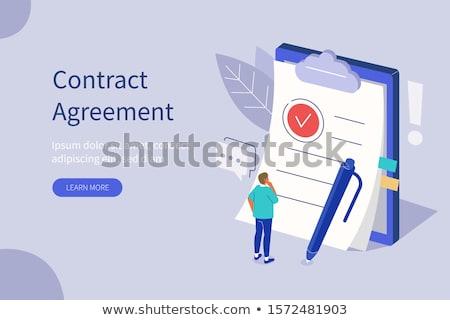 Ondertekening business documenten zakenman kantoor man Stockfoto © RAStudio