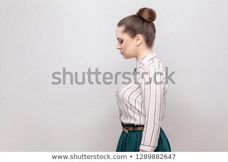 Nervous businesswoman holding her head Stock photo © wavebreak_media