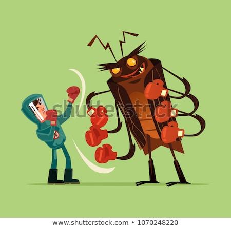 ビッグ 害虫 男 マスク ガス 漫画 ストックフォト © carbouval