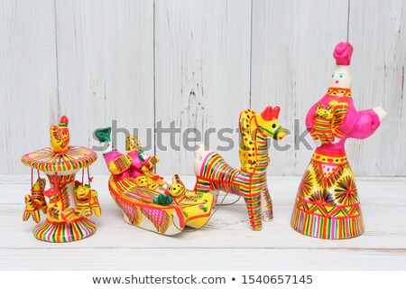 Traditional russian handmade souvenirs from clay  Stock photo © Valeriy