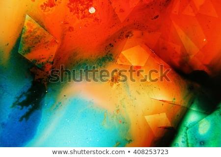 Stok fotoğraf: Yeşil · mürekkep · renkler · su · sıvı · sanat
