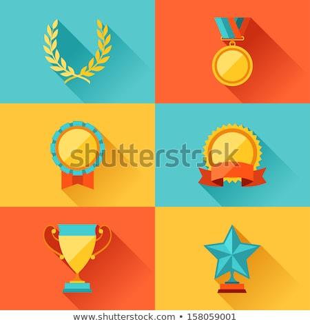 győzelem · díj · szalag · szalag · stílus · izolált - stock fotó © studioworkstock