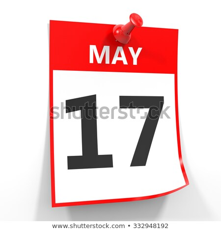Wall calendar with a red pin - May 17 Stock photo © Zerbor