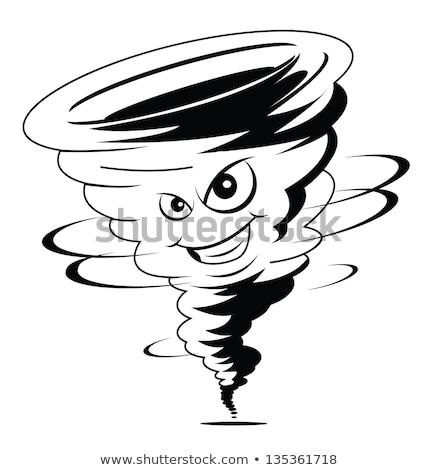 Cartoon · счастливым · характер · иллюстрация · смешные · ветровой · турбины - Сток-фото © blamb