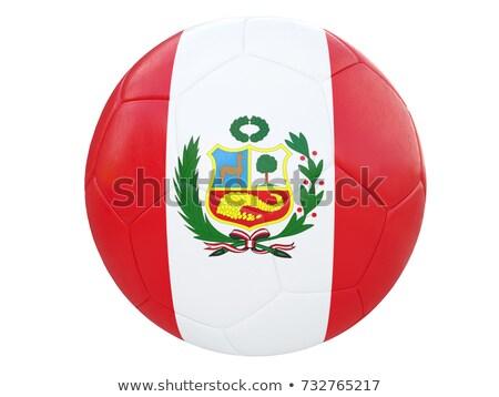 Foto stock: Fútbol · fútbol · pelota · banderas · 3D