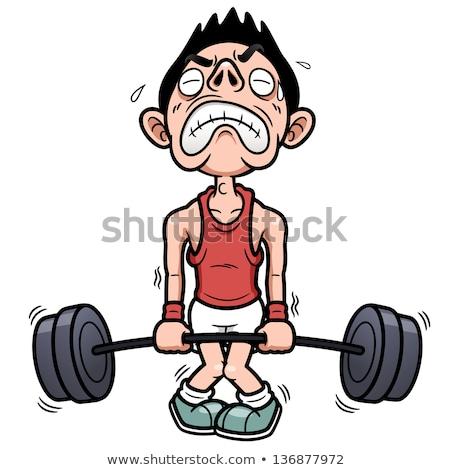 Man Weight Lift Thin Stock photo © lenm