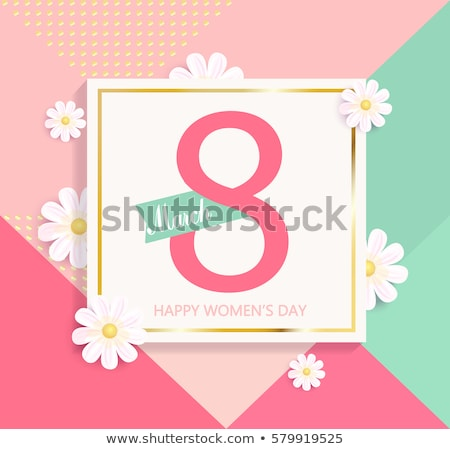 Womens day sale background design with beautiful colorful flower. Vector floral design template for  Stock photo © articular