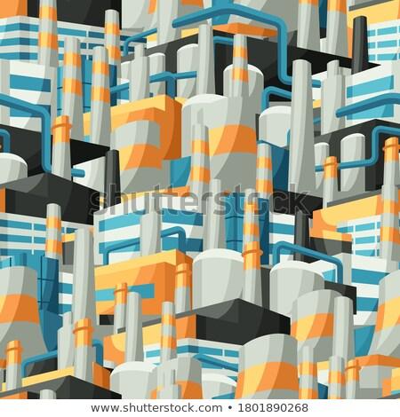 завода промышленных шаблон бесшовный текстуры завода Сток-фото © MaryValery