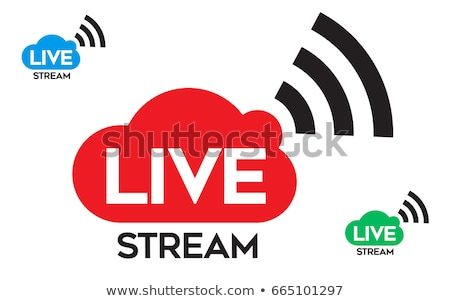 Stockfoto: Live · nu · streaming · nieuws · business · licht