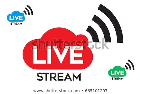 ライブ 今 ストリーミング ニュース ビジネス 光 ストックフォト © SArts
