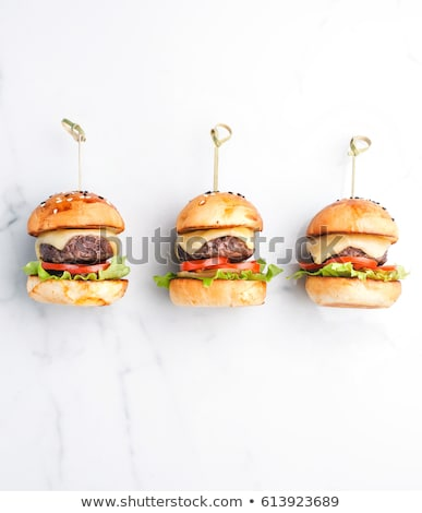 Delicious mini burgers Stock photo © Melnyk