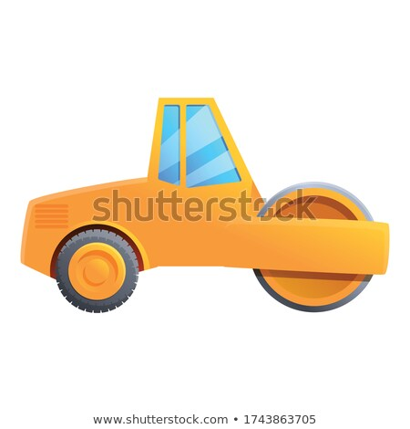 Retro asphalt compactor cartoon isolated on white Stock photo © orensila