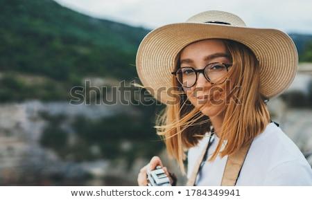 женщины турист горные воздуха Сток-фото © boggy