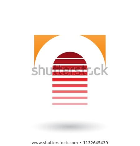 Stockfoto: Oranje · Rood · icon · brief · vector · illustratie