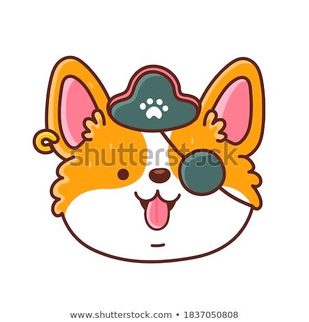 Cartoon Smiling Pirate Puppy Stock photo © cthoman