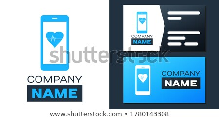 Saúde inteligente cartão aplicativo interface modelo Foto stock © RAStudio