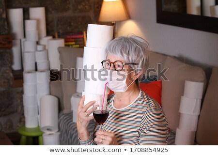 patient senior women_alcohol Stock photo © toyotoyo
