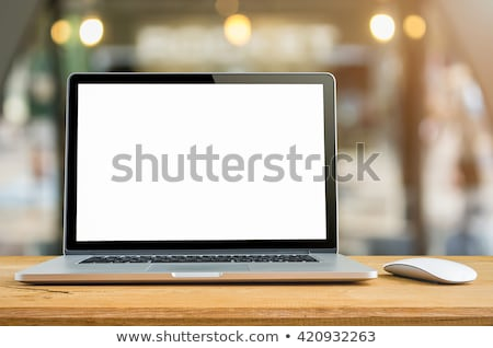Digital Library Concept - Open book on tablet computer screen Stock photo © adamr
