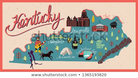 Desenho animado Kentucky ilustração sorridente gráfico américa Foto stock © cthoman