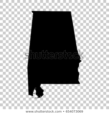 map of the U.S. state of Alabama, vector illustration isolated on modern background. Stock photo © kyryloff
