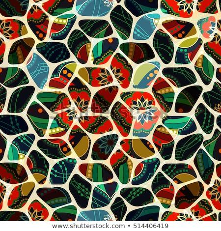 sem · costura · telha · padrão · fantástico · caleidoscópio - foto stock © lissantee