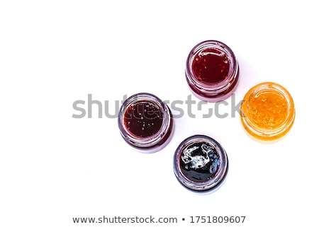 Canned Blueberries or Blackberries in Glass Jar Stock photo © robuart