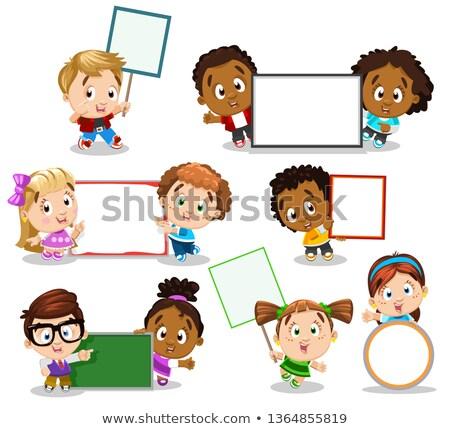 子供 黒板 テンプレート 実例 学校 学生 ストックフォト © colematt