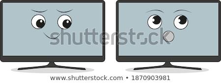 驚いた 漫画 フラットスクリーン テレビ 実例 テレビ ストックフォト © cthoman