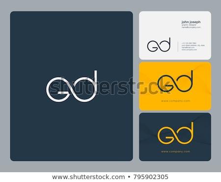 letter g and d vector logo icon element Stock photo © blaskorizov