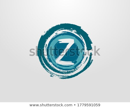letter z logo blue black circle sign icon Stock photo © blaskorizov