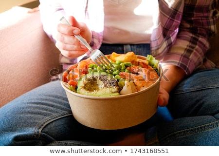 delicioso · lejos · ensalada · lechuga - foto stock © dash