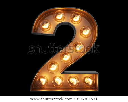 Golden number 2 TWO 3D Stock photo © djmilic