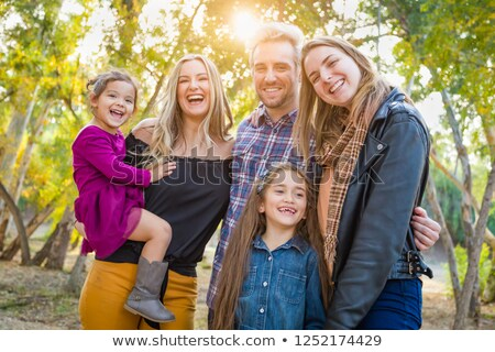Aile açık havada mutlu grup Stok fotoğraf © feverpitch