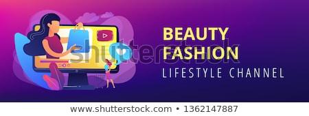 Shopping sprees video concept banner header. Stock photo © RAStudio