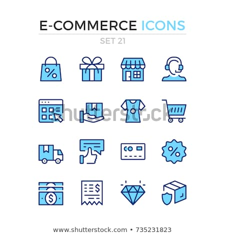 Color Icon Set in Linear Design for E-Commerce Stock photo © robuart