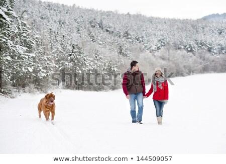 Coppia inverno piedi freddo giorno Foto d'archivio © Kzenon