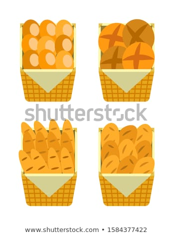 ounter Stall Bakery Food Products. Buns and Bread Stock photo © robuart