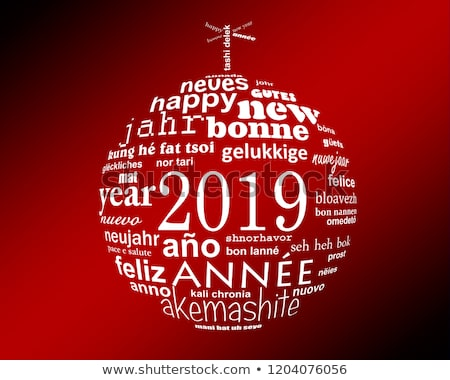 Stock photo: 2019 Happy new year card from all the world