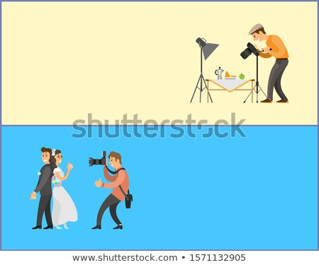 still life and wedding photographers banners set stock photo © robuart
