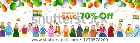 People of different religion showing Unity in Diversity on Happy Republic Day of India Sale Promotio Stock photo © vectomart