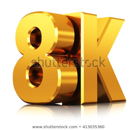 3d 8k ultra high resolution button Stock photo © ribah
