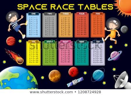 mathematics time table space theme stock photo © colematt