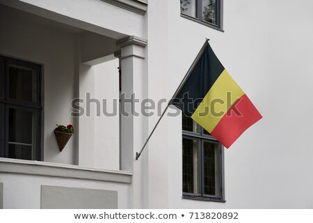 Casa bandera Bélgica blanco casas Foto stock © MikhailMishchenko