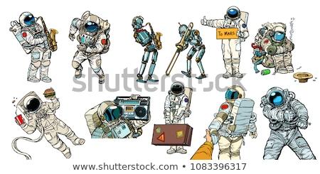 karikatür · sevimli · astronot · yalıtılmış · takım · elbise · renk - stok fotoğraf © olllikeballoon