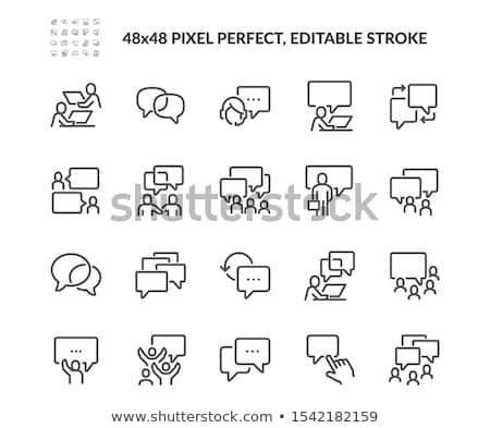 vector set of people talking stock photo © olllikeballoon