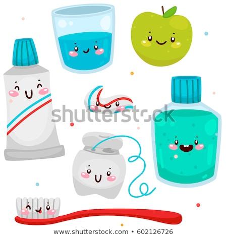 vektor · szett · fog · törődés · fogorvos · rajz - stock fotó © olllikeballoon